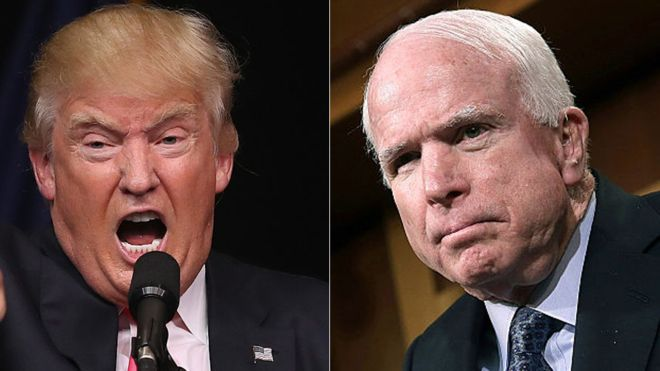 McCain condemns Trump over row with Khan family