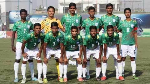 বাংলাদেশ-ভারত অনূর্ধ্ব-১৫ ফুটবল দলের সেমিফাইনাল ম্যাচ দেখুন