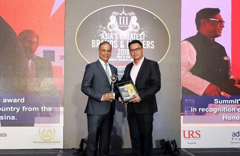 সামিট চেয়ারম্যান 'গ্লোবাল এশয়িান অফ দ্য ইয়ার- ২০১৮' সম্মানে ভূষিত